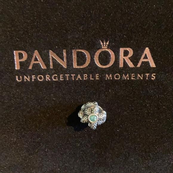 Pandora Sea Star Starfish Charm Turquoise crystal